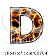 Electric Symbol Capitol Letter D