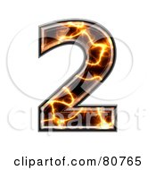 Royalty Free RF Clipart Illustration Of An Electric Symbol Number 2