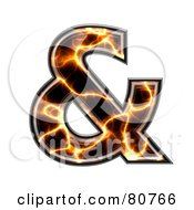 Royalty Free RF Clipart Illustration Of An Electric Symbol Ampersand by chrisroll