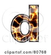 Electric Symbol Lowercase Letter D