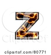 Electric Symbol Lowercase Letter Z by chrisroll