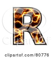 Electric Symbol Capitol Letter R by chrisroll