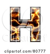 Royalty Free RF Clipart Illustration Of An Electric Symbol Capitol Letter H