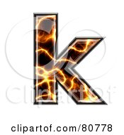 Electric Symbol Lowercase Letter K by chrisroll