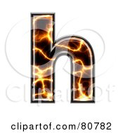 Royalty Free RF Clipart Illustration Of An Electric Symbol Lowercase Letter H