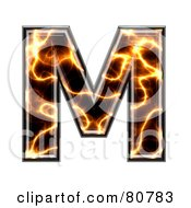Electric Symbol Capitol Letter M by chrisroll