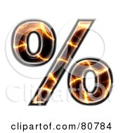 Royalty Free RF Clipart Illustration Of An Electric Symbol Percent by chrisroll