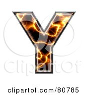 Electric Symbol Capitol Letter Y by chrisroll