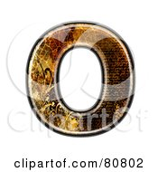 Royalty Free RF Clipart Illustration Of A Grunge Texture Symbol Capitol Letter O