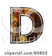 Royalty Free RF Clipart Illustration Of A Grunge Texture Symbol Capitol Letter D by chrisroll