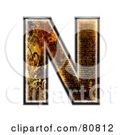 Royalty Free RF Clipart Illustration Of A Grunge Texture Symbol Capitol Letter N by chrisroll