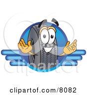 Rubber Tire Mascot Cartoon Character Logo