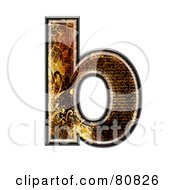 Royalty Free RF Clipart Illustration Of A Grunge Texture Symbol Lowercase Letter B