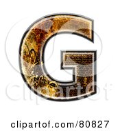 Grunge Texture Symbol Capitol Letter G
