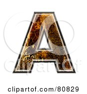 Grunge Texture Symbol Capitol Letter A by chrisroll