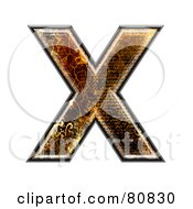 Royalty Free RF Clipart Illustration Of A Grunge Texture Symbol Capitol Letter X