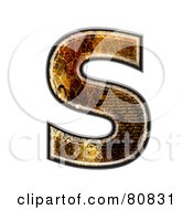 Royalty Free RF Clipart Illustration Of A Grunge Texture Symbol Capitol Letter S