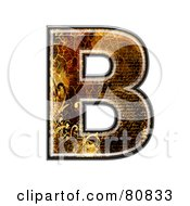 Royalty Free RF Clipart Illustration Of A Grunge Texture Symbol Capitol Letter B