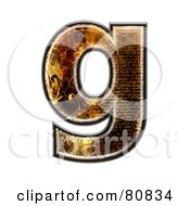 Grunge Texture Symbol Lowercase Letter G