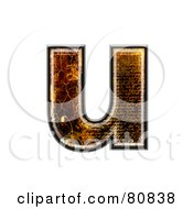 Royalty Free RF Clipart Illustration Of A Grunge Texture Symbol Lowercase Letter U