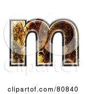 Grunge Texture Symbol Lowercase Letter M