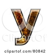Grunge Texture Symbol Lowercase Letter Y