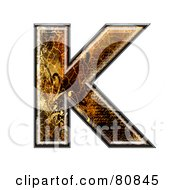 Grunge Texture Symbol Capitol Letter K by chrisroll