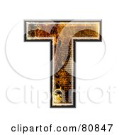 Grunge Texture Symbol Capitol Letter T by chrisroll