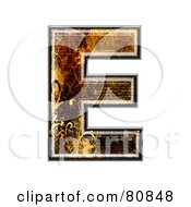 Grunge Texture Symbol Capitol Letter E by chrisroll