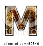 Grunge Texture Symbol Capitol Letter M