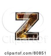 Grunge Texture Symbol Lowercase Letter Z