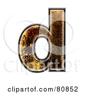 Grunge Texture Symbol Lowercase Letter D by chrisroll
