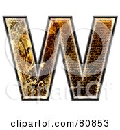 Grunge Texture Symbol Capitol Letter W by chrisroll