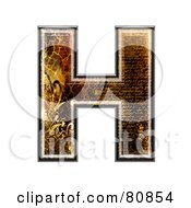 Royalty Free RF Clipart Illustration Of A Grunge Texture Symbol Capitol Letter H