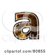 Grunge Texture Symbol Lowercase Letter A by chrisroll