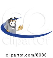 Clipart Picture Of A Rubber Tire Mascot Cartoon Character Logo With A Blue Dash by Toons4Biz