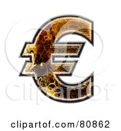 Royalty Free RF Clipart Illustration Of A Grunge Texture Symbol Euro by chrisroll