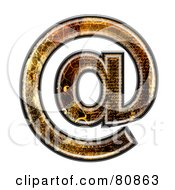 Royalty Free RF Clipart Illustration Of A Grunge Texture Symbol Arobase