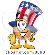 Uncle Sam Mascot Cartoon Character Pointing At The Viewer