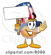 Clipart Picture Of An Uncle Sam Mascot Cartoon Character Holding A Blank Sign