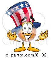 Clipart Picture Of An Uncle Sam Mascot Cartoon Character With Welcoming Open Arms