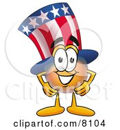 Clipart Picture Of An Uncle Sam Mascot Cartoon Character With His Hands On His Hips