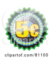 Royalty Free RF Clipart Illustration Of A Five Cent Seal Button by MacX
