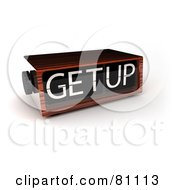 Royalty Free RF Clipart Illustration Of A 3d Wooden Alarm Clock Reading Get Up
