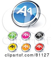 Digital Collage Of Shiny Colored And Chrome AA Website Buttons