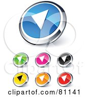 Digital Collage Of Shiny Colored And Chrome Back Website Buttons