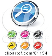 Royalty Free RF Clipart Illustration Of A Digital Collage Of Shiny Colored And Chrome Actual Size Website Buttons by beboy