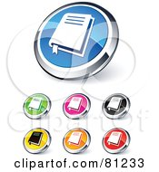 Digital Collage Of Shiny Colored And Chrome Bible Website Buttons