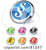 Digital Collage Of Shiny Colored And Chrome Paragraph Website Buttons