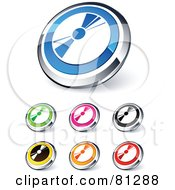 Digital Collage Of Shiny Colored And Chrome CD Website Buttons